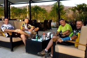 Relaxing drink after a offroad ride in Hua Hin
